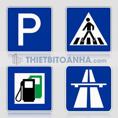 Biển báo giao thông hình chữ nhật (Biển chỉ dẫn giao thông)