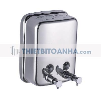 Hộp đựng nước rửa tay đôi bằng inox 2x450ml