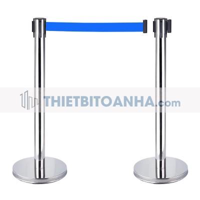 Cột chắn inox dây căng 1m8 màu xanh