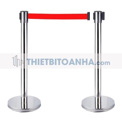 Cột chắn inox dây căng 1m8 màu đỏ