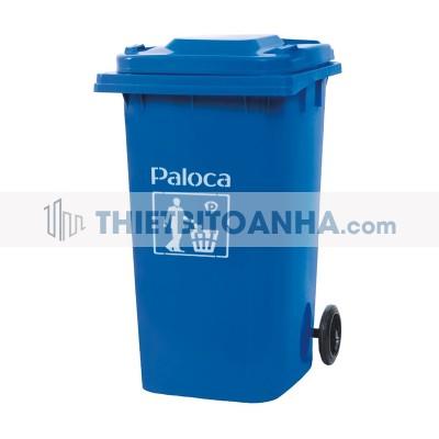 thùng rác nhựa 240 lít màu xanh dương