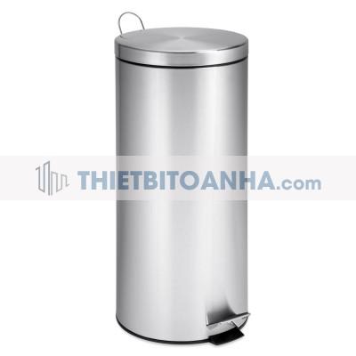 thùng rác inox đạp chân 30 lít