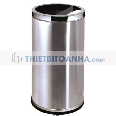 thùng rác inox hình trụ tròn