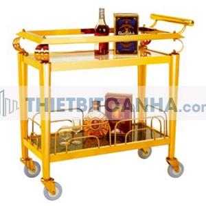 Xe đẩy phục vụ rượu 2 tầng