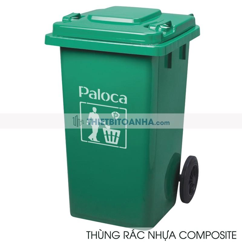 Đại lý cấp 1 bán  thùng rác nhựa composite 120l mã hàng EPTO5F04 thương hiệu Paloca