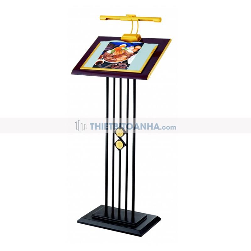 bảng menu khung thép phun sơn có đèn