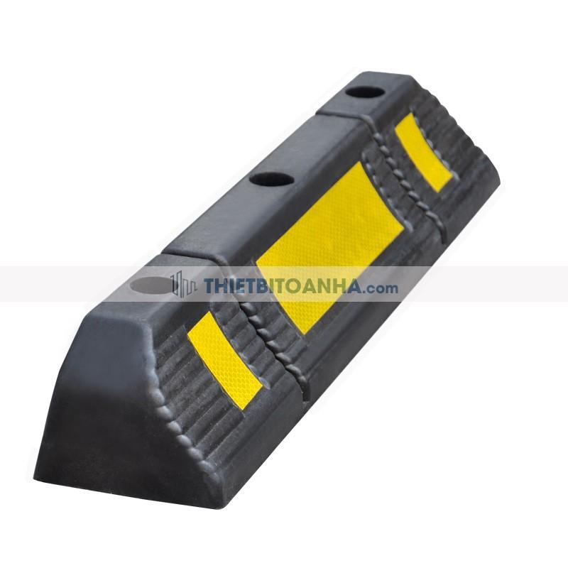 cục chặn bánh xe cao su có phản quang