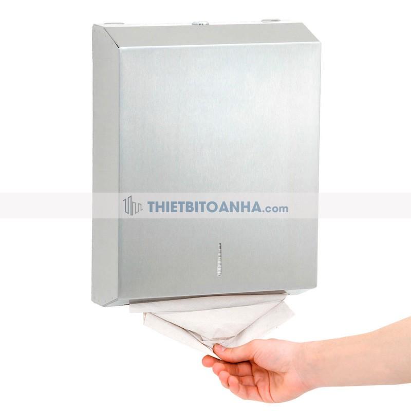 hộp đựng giấy lau tay inox treo tường
