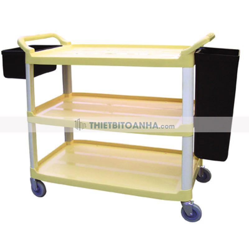 Xe đẩy phục vụ bàn 3 tầng