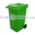 Thùng đựng rác nhựa có nắp đậy bằng nhựa HDPE