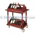 Xe đẩy phục vụ rượu khách sạn bằng gỗ công nghiệp