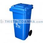 Thùng đựng rác nhựa HDPE 120l màu xanh da trời