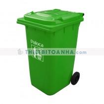Thùng rác nhựa HDPE màu xanh lá