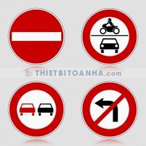Biển báo giao thông hình tròn (biển báo cấm)