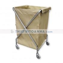 Xe chở đồ giặt là khung inox vải bạt