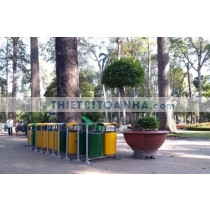 Thùng rác nào thích hợp sử dụng tại công viên