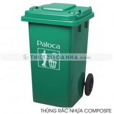 Thùng rác nhựa composite có bánh xe