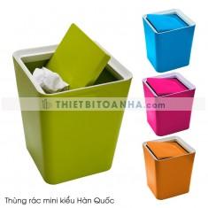 Thùng rác mini kiểu Hàn Quốc nắp lật