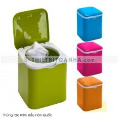 Thùng rác mini kiểu Hàn Quốc có nắp