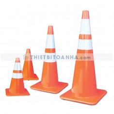 Cọc tiêu giao thông PVC đế cam có chốt
