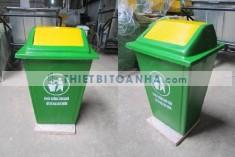 Thùng rác nhựa đế đá giải pháp cho các địa điểm công cộng