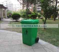 Thùng rác nhựa 240l có nắp đậy ngăn mùi rác thải