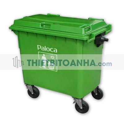 Thùng rác nhựa to 660 Lít có nắp đậy
