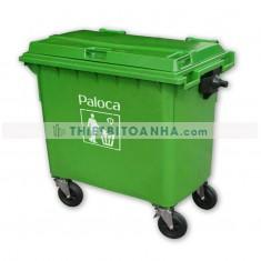 Thùng rác nhựa 660L có bánh xe