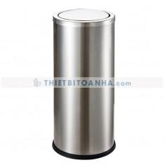 Thùng rác inox tròn nắp lật (Ø)250mm