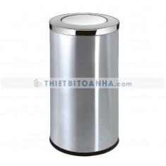 Thùng rác inox tròn nắp bập bênh (Ø)300mm