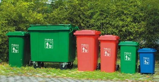 Các loại dung tích thùng rác nhựa