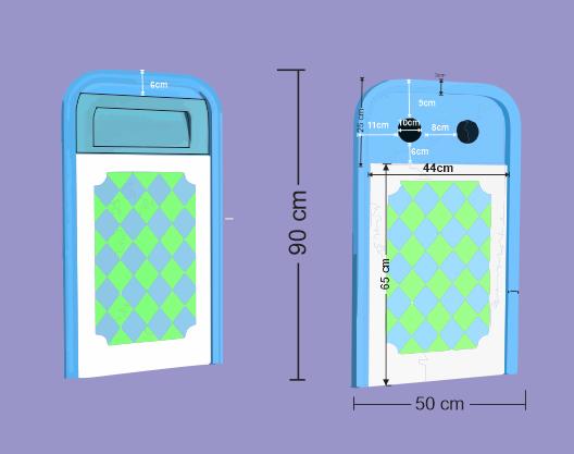 Thùng rác composite 2 ngăn phân loại rác