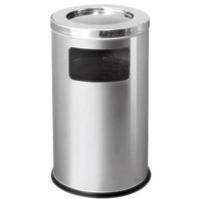 thùng rác inox có khay gạt tàn thuốc lá cỡ đại