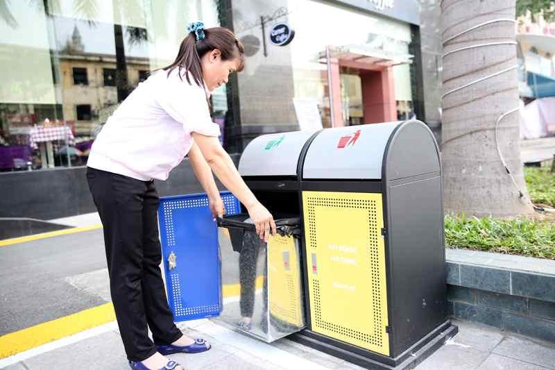 thùng rác công cộng thân thiện tại Quảng Ninh