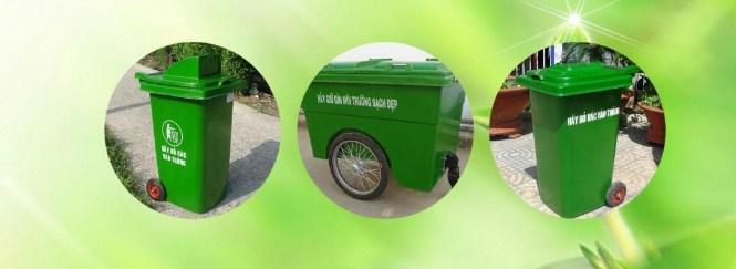 sử dụng thùng rác đúng cách để môi trường luôn sạch đẹp